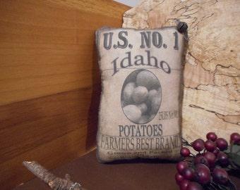 Pillow Tuck: Primitive Rustic Americana Idaho Potato  Pillow Tuck