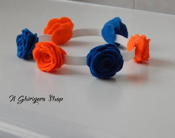 Chaplet of flowers (Roses) in felt