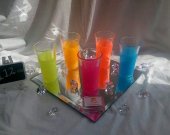 Neon shot glasses - set of 5