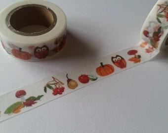 Fall Owls Washi Tape