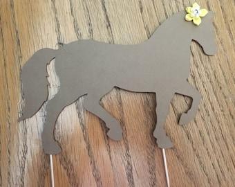 Cardstock Paper Horse Cake topper
