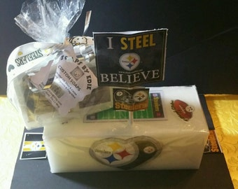 Pittsburg Steelers Fan Decorative Loaf Glycerin Soap With Picture Imbeds For Football Parties Games & Favors