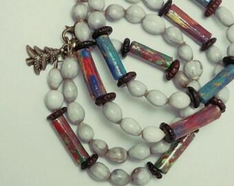 Job's tears bracelets/ tube paper beads/ gift/single strand bracelet.
