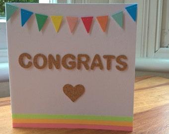 Neon Congrats Card