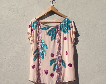 Pink Sequined Shirt