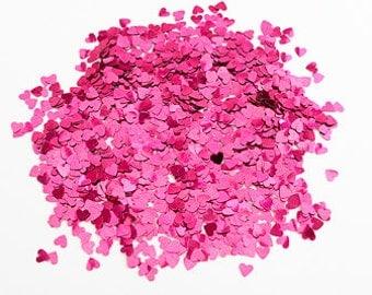 Burgundy Hearts - Wedding Table Confetti