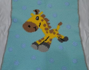 Happy Giraffe Baby Blanket