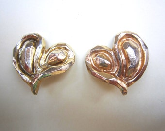 Vintage Emanuel Ungaro heart earrings, 1980's