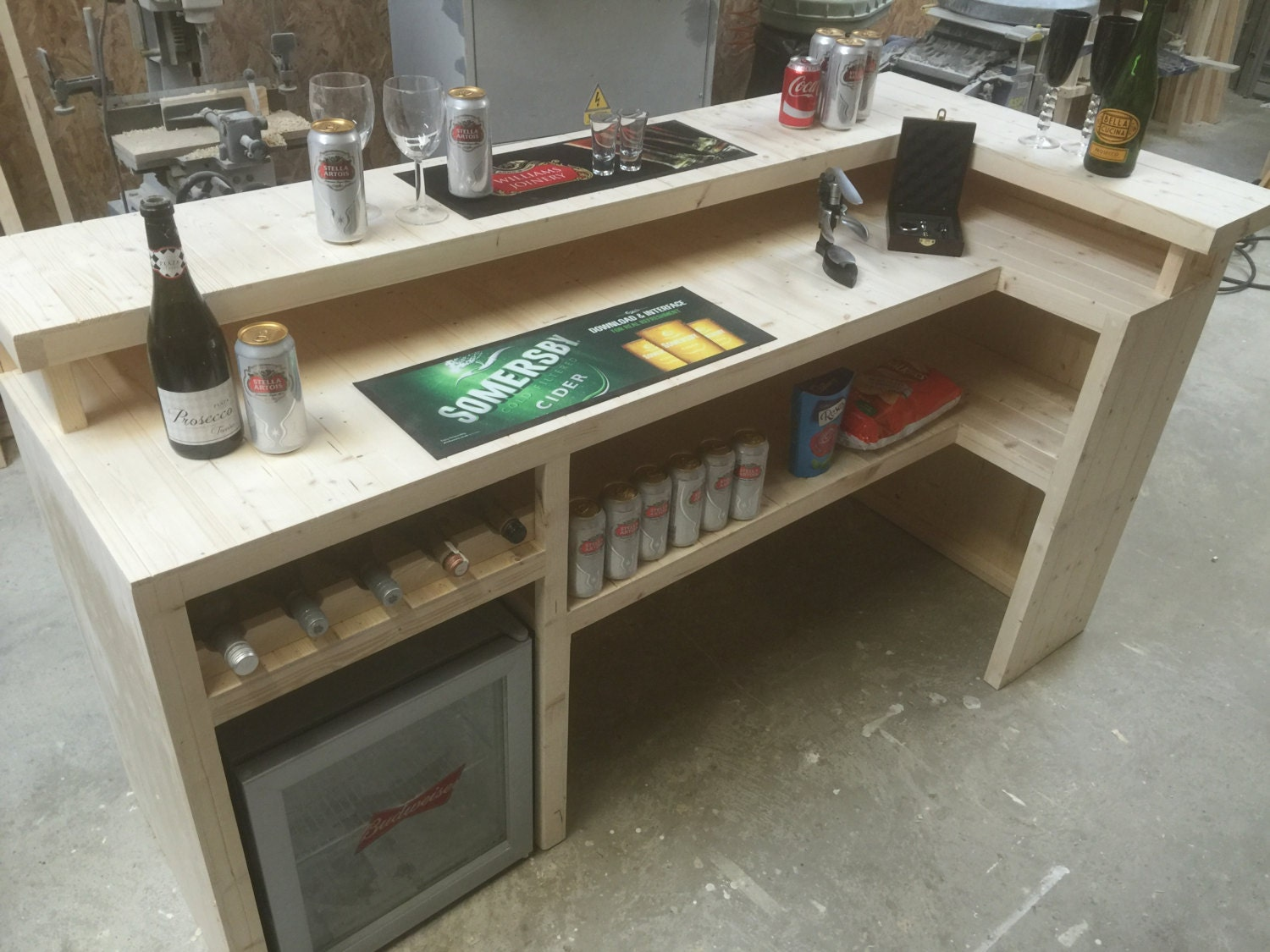 Man Cave Bar Counters : Beautiful bar counter micro pub home summer house