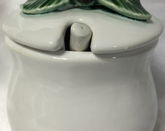 Hand-Painted Ceramic Blackberry Lidded Jar Bentson-West Designs Made in Portugal.