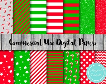 Christmas Digital Papers, Candy Cane Digital Paper, Instant Download, Commercial Use, Scrapbook Digital Papers, Digital Background, DP13