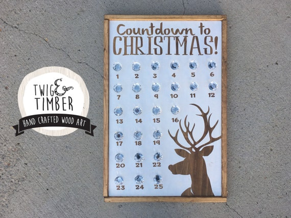 Custom Advent Sign - COUNTDOWN TO CHRISTMAS - advent calendar - Hang a Bag! Choose your Colors!