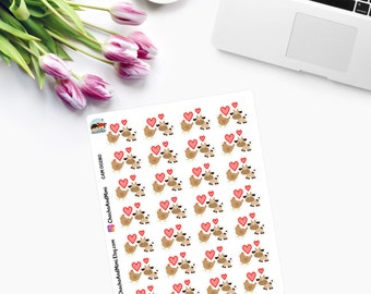 DATE NIGHT / Sexual Life Tracker (Brown Chicken Brown Cow)  Planner Stickers CAM00280