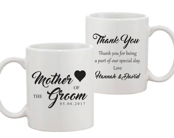 Mother of the Groom - Personalised Mug -Bridal Party Gift - FREE UK SHIPPING