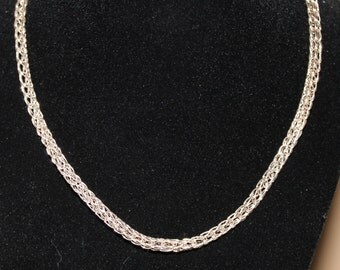Sterling Silver Viking Knit Necklace