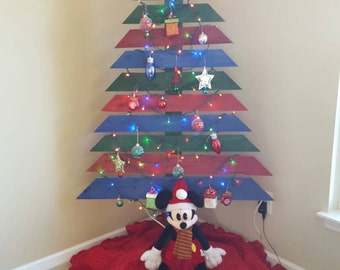 Repurposed wooden Christmas tree