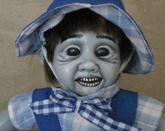 OOAK Hand Painted Creepy Doll 7