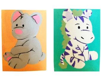 Bear, Bunny, Zebra
