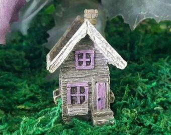 Miniature Teeny Fairy House / Shed