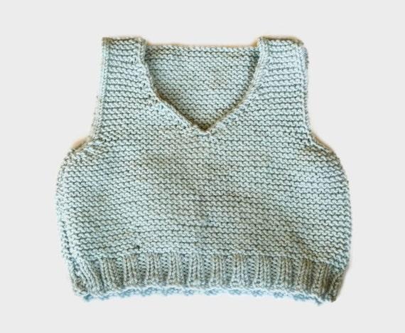 Vest Knitting Pattern Beginners : Easy knitting pattern baby vest body warmer