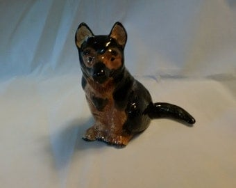 Vintage German Shepherd Statue