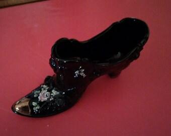 Vintage Stetson Deco.Boot Handpainted