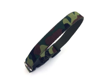 Camouflage dog collar.