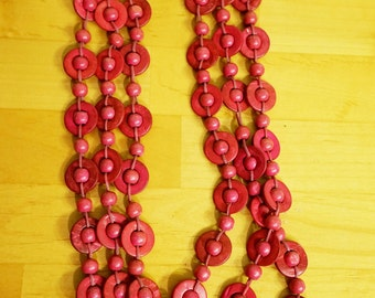 Beautifully Handmade Wooden Bead Necklace