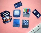 TV Stickers - TV, VHS, Video Tapes