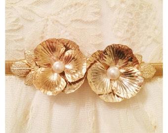 Brass flower belt