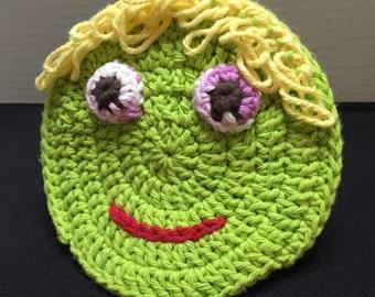 Crochet Child Bath Mitt, Crochet Child Scrubby, Crocheted Bath Pal, Bath Mitt