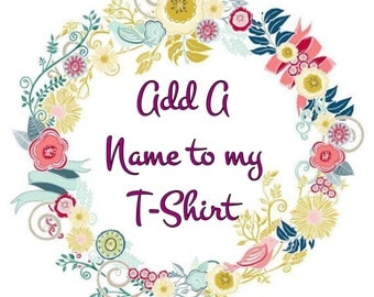 Add an Extra name to my T-Shirt
