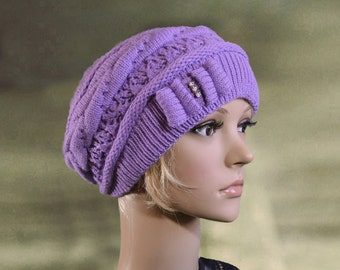 Womens knit hats, Knitted wool hats, Winter ladies hats, Knit beanie for lady, Women's wool hats, Knit cap for women, Winter hats beanie