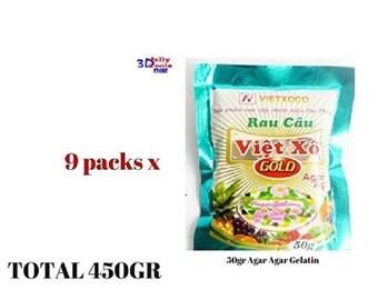 9 x Agar Agar Gelatin Dietary Fiber Jelly Powder Best Quality Agar-Agar