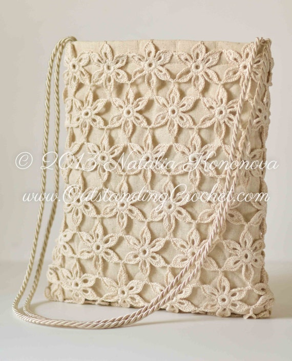 Crochet Bag Patterns Free Download : Free Tote Bag Crochet Pattern -PDF instant download - Crochet Bag ...
