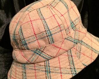 Plaid Wool Hat, Fedora/Trilby