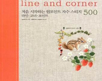 Embroidery line and corner 500 - Embroidery Stitches Flower Animals Alphabet Cute Patterns Craft Book