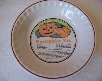 "Sunnycraft Sunny's Pride Pumpkin Pie Plate - Sunstone Collection - 10 3/4"" Diameter"