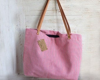 Red Stripes Carry On Bag