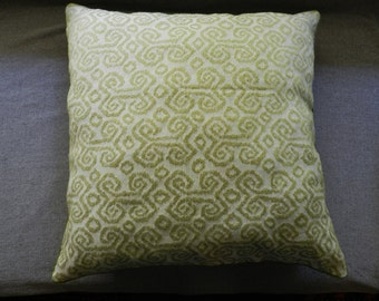 Moss green decorator fabric pillow cover