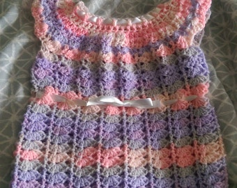 Crochet Baby Girl Dress (Newborn)