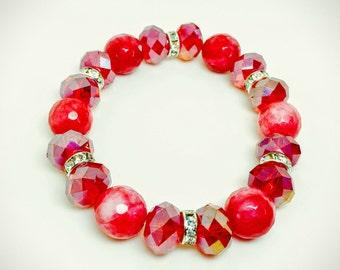 Gorgeous Red Stretchy Bracelet