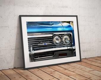 Wall Decor - Gift for Men - Wall Art - Chevrolet Impala Fine Art Print - Car Art -  Home Decor - Chevy - Classic Car - Photography