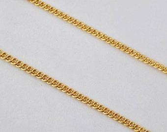 """Gold Filled Chain 22.5"""" Inch 18k Gold-filled gold tone findings for gold filled jewelry making Cg78"""