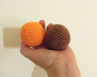 Set of two crochet balls