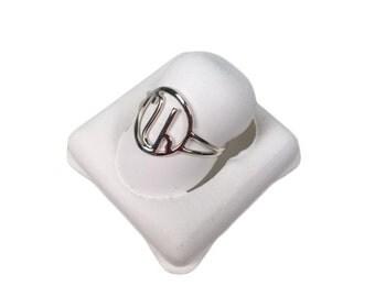Silver Armenian Initial Ring