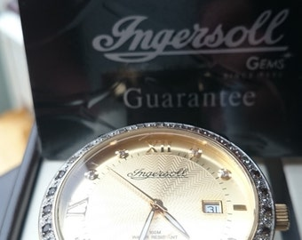 Ingersoll Gold Plated Gems Men's Wrist Watch
