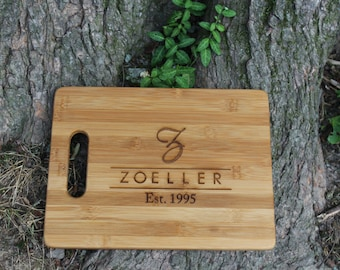 Personalized Cutting Board, Bamboo Cutting Board, Monogrammed Cutting Board, Housewarming, Family, Wedding Gift, Business, BBQ, Cooking Gift