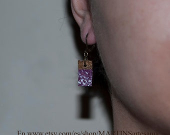 Earrings violet coconut