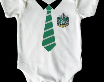 Harry potter slytherin baby vest/romper/bodysuit